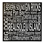 8 x 8 Georgian Bay Beausoleil Is – Canvas Print – Wall Art – Giants Tomb Trading Co