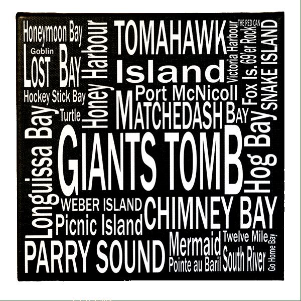 8 x 8 Georgian Bay - Giants Tomb - Canvas Print - Wall Art - Giants Tomb Trading Co