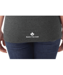 WOMEN'S T-SHIRT V-NECK   GTTC TRI-BLEND - Black - Close Up