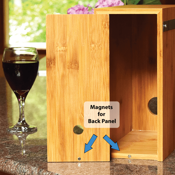 Wine Box Cover - Boxed Wine - Bamboo Magnet Back 2 - Giants Tomb Trading Co