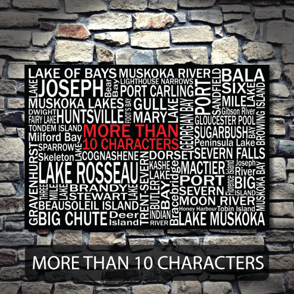 Personalized Canvas Print | Muskoka Destinations | Giants Tomb Trading Co - 10 Characters