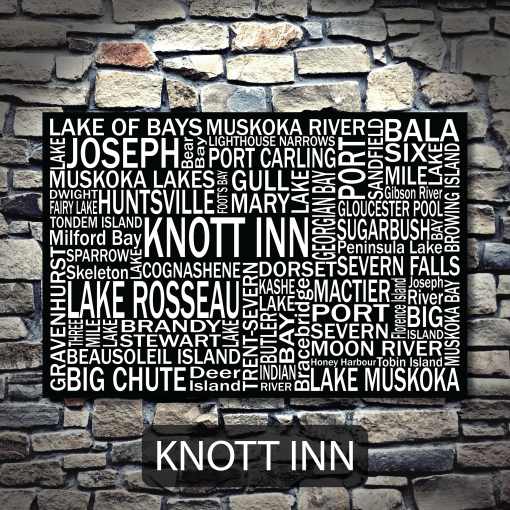 Personalized Canvas Print | Muskoka Destinations | Giants Tomb Trading Co - Knott Inn
