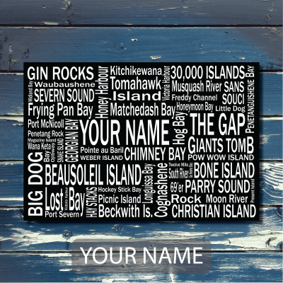 Personalized Canvas Print Georgian Bay | Giants Tomb Trading Co