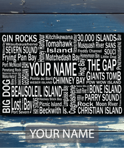 Personalized Canvas Print | 30 Thousand Destinations | Giants Tomb Trading Co - Your Name