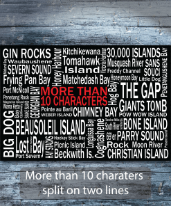Personalized Canvas Print | 30 Thousand Destinations | Giants Tomb Trading Co - More than 10 Characters