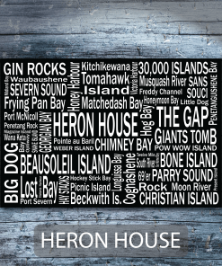 Personalized Canvas Print | Georgian Bay Destinations | Giants Tomb Trading Co - Heron House