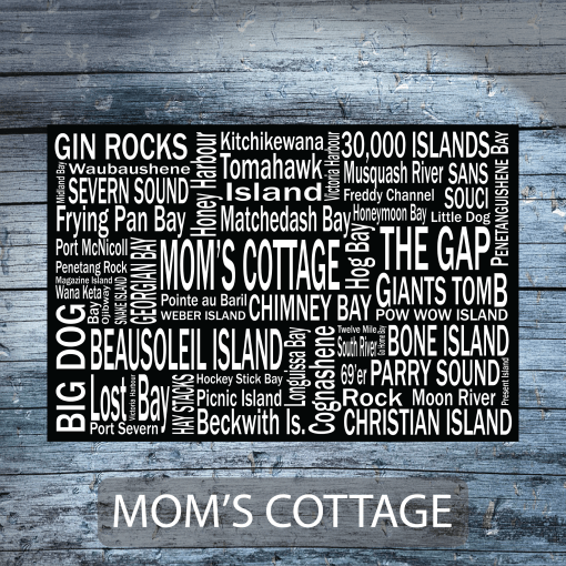 Personalized Canvas Print | Georgian Bay Destinations | Giants Tomb Trading Co -Moms Cottage