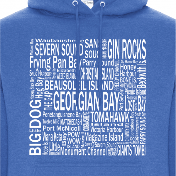 Women's Hoodie | Men's Hoodie | GTTC Active Blend - H_Royal Front Close
