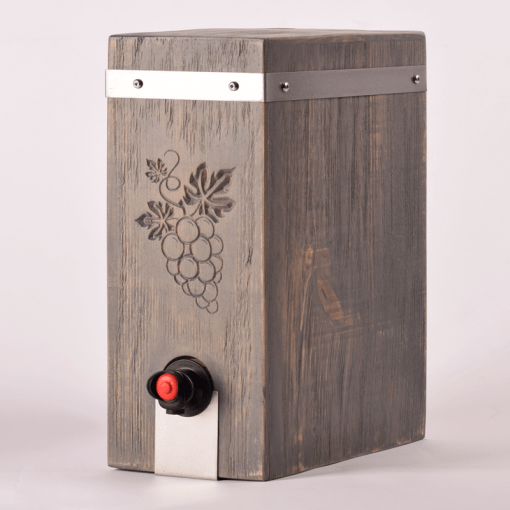 Boxed Wine Cover Driftwood Vitis Front