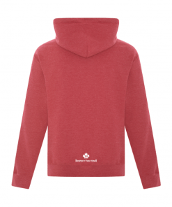 Hoodie | Unisex | Active Blend | Heather Red | Logo: Georgian Bay Destinations Back