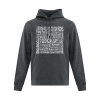 Hoodie | Unisex | Active Blend | Dark Heather | Logo: Georgian Bay Destinations - Front