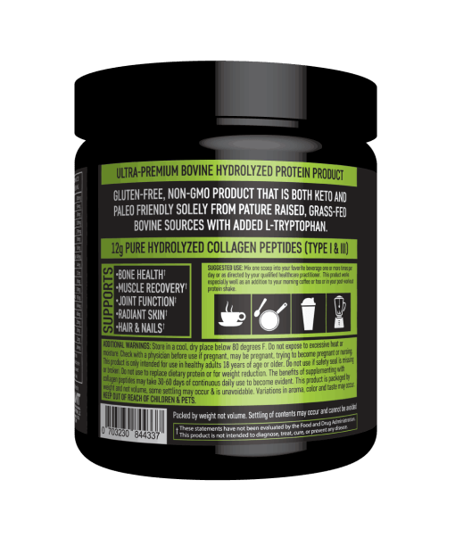 Giant Sports Collagen Peptides Back Panel