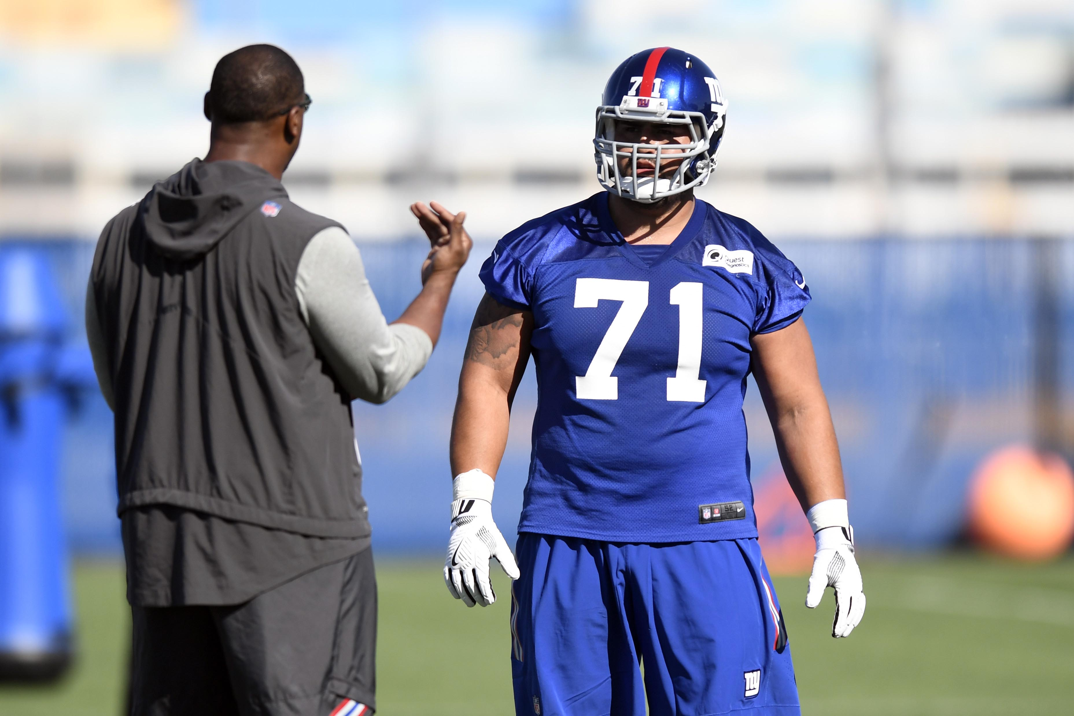 Giants' Will Hernandez may miss first NFL snap