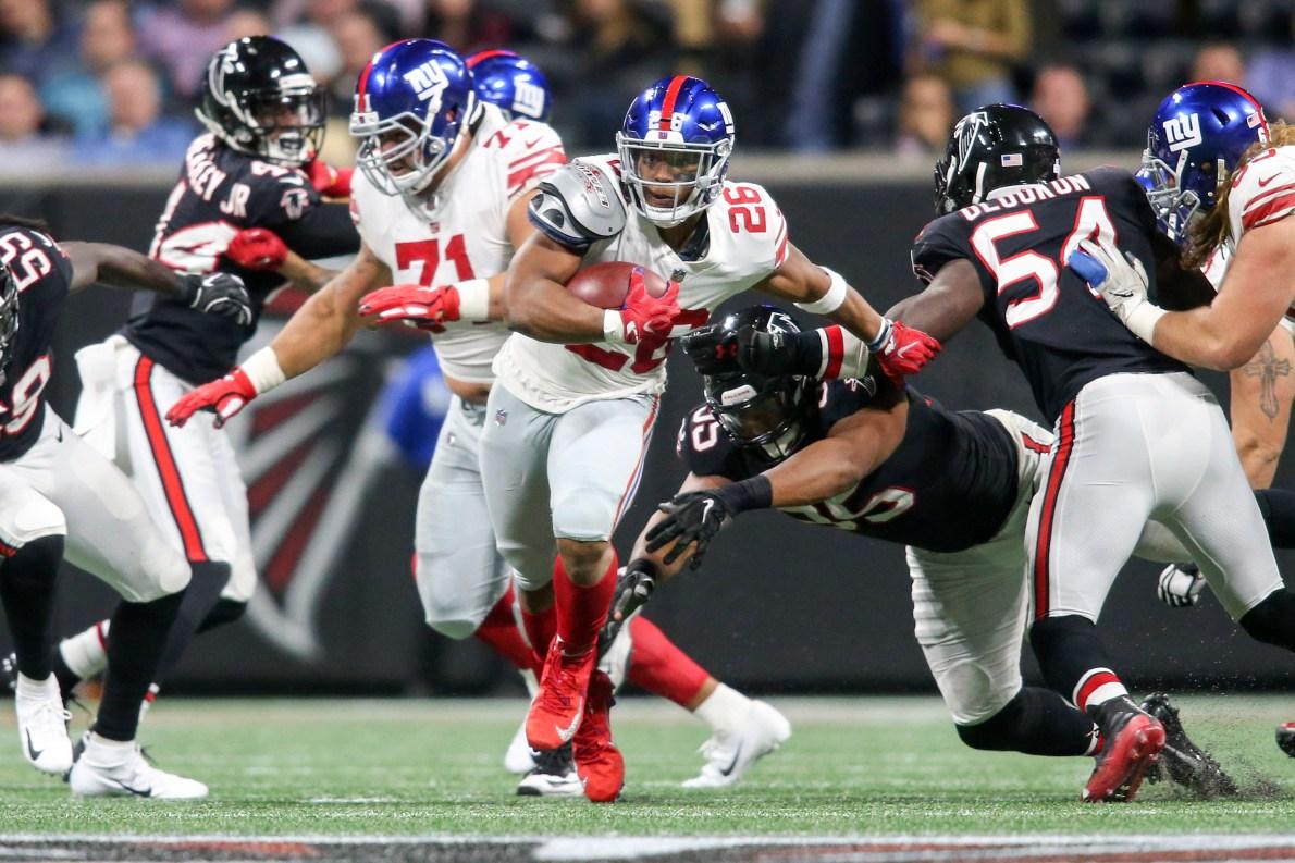 New York Giants open as 3.5-point home favorites vs. Atlanta Falcons