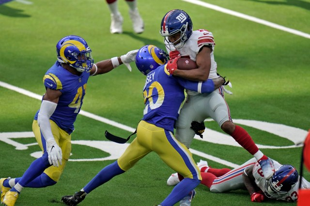 Giants' Golden Tate spared, Rams' Jalen Ramsey fined for brawl
