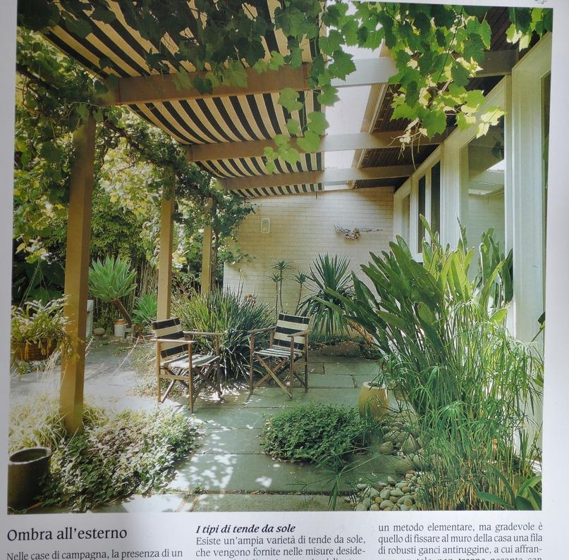 034 arredare country vol1 tende da sole giardini  Giardinaggio Irregolare