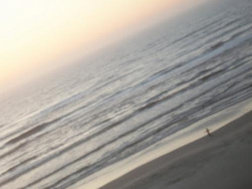 Amanhecer cumprimentando o mar!