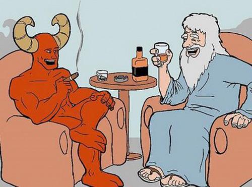 Talvez Satanás seja apenas representação das dúvidas de Deus