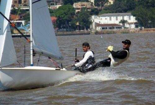A dupla Geison Mendes e Gustavo Thiesen, do Veleiros do Sul