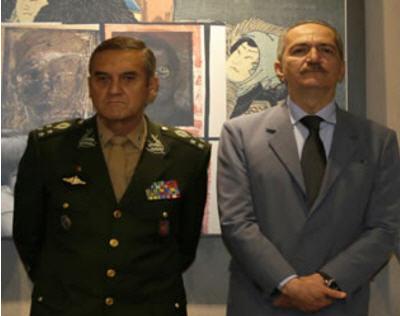 General Eduardo Villas Bôas, e o Ministro da Defesa, Aldo Rebelo