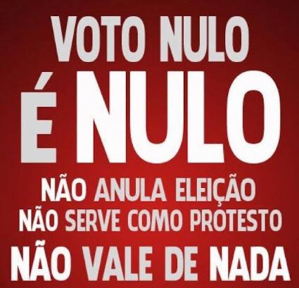 Voto Nulo Não Anula Eleições