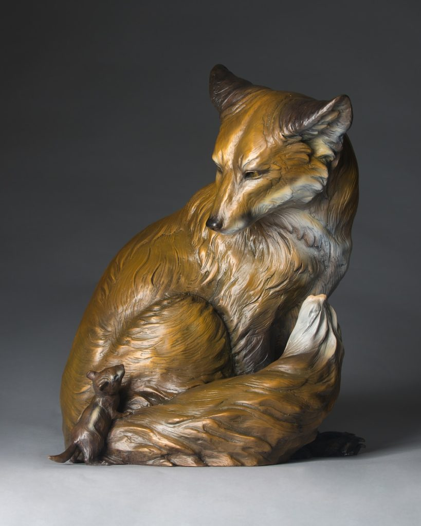bronze wildlife sculptures