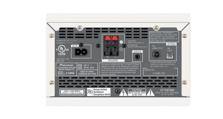 pioneer stereo receiver test alternator wiring diagram bosch x-cm56w 30-watt 2.0 channel cd - white