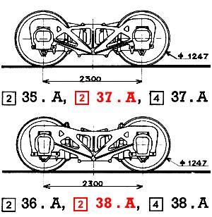 Steam locomotive 231-E-26 and tender 38-A-45 Roco