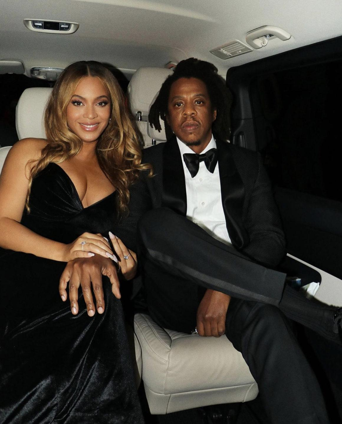 Beyoncé Wears Custom Black Velvet Valdrin Sahiti Dress While Attending the 'The Harder They Fall' World Premiere at the London Film Festival With Jay-Z