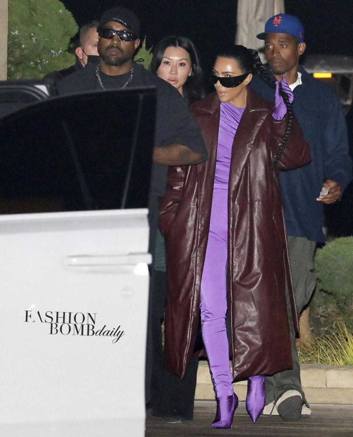 Kim Kardashian Steps Out in Head-To-Toe Balenciaga While Having Dinner With Kanye West in Malibu