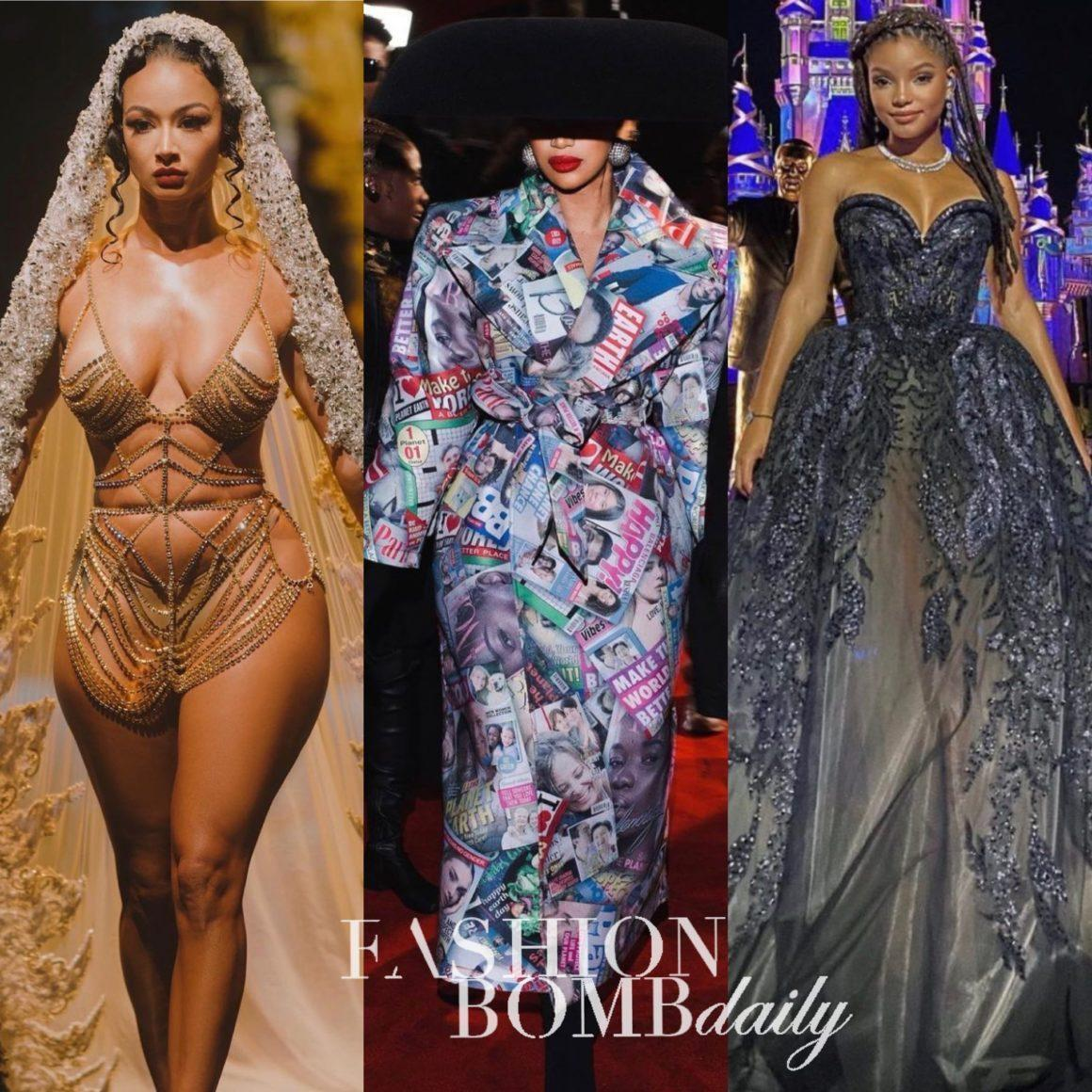 Look of the Week: Draya Michele in Lace by Tanya x Nicole Lynel, Halle Bailey in Elie Saab, Cardi B and Offset in Balenciaga + More
