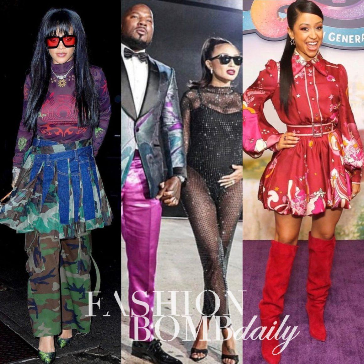 Look of the Week: Jeezy in Teó Flor and Jeannie Mai in Tata LA, Rihanna in Marine Serre and Junya Watanabe, Liza Koshy in Zimmermann + More