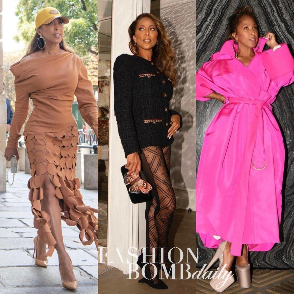 Marjorie Harvey Slays Paris Fashion Week: Style Moments Featuring Valentino Pink Trench, Chanel Tweed Jumpsuit, Awake Mode Tan Laser Cut Circle Skirt + More