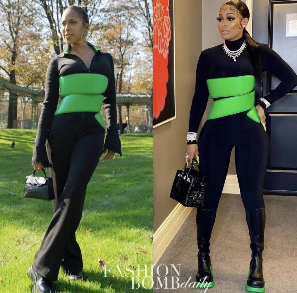 Who Wore It Better: Marjorie Harvey and Keyshia Ka'oir Spied in the Same Bottega Veneta Green Corset Belt
