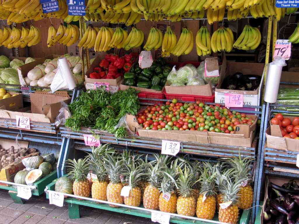 Fruits and vegetables in Chinatown Honolulu