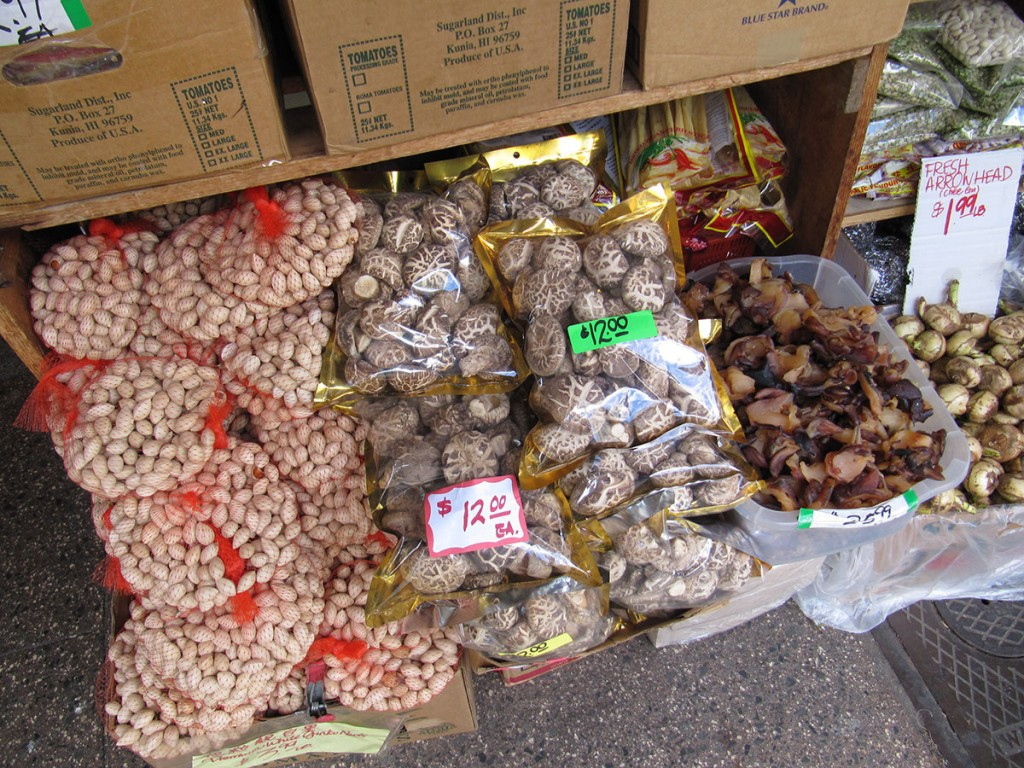 Mushrooms in Chinatown Honolulu