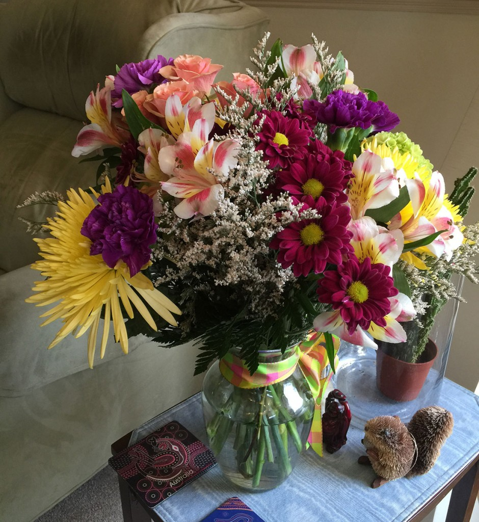 Gorgeous bouquet from Larry & Pam