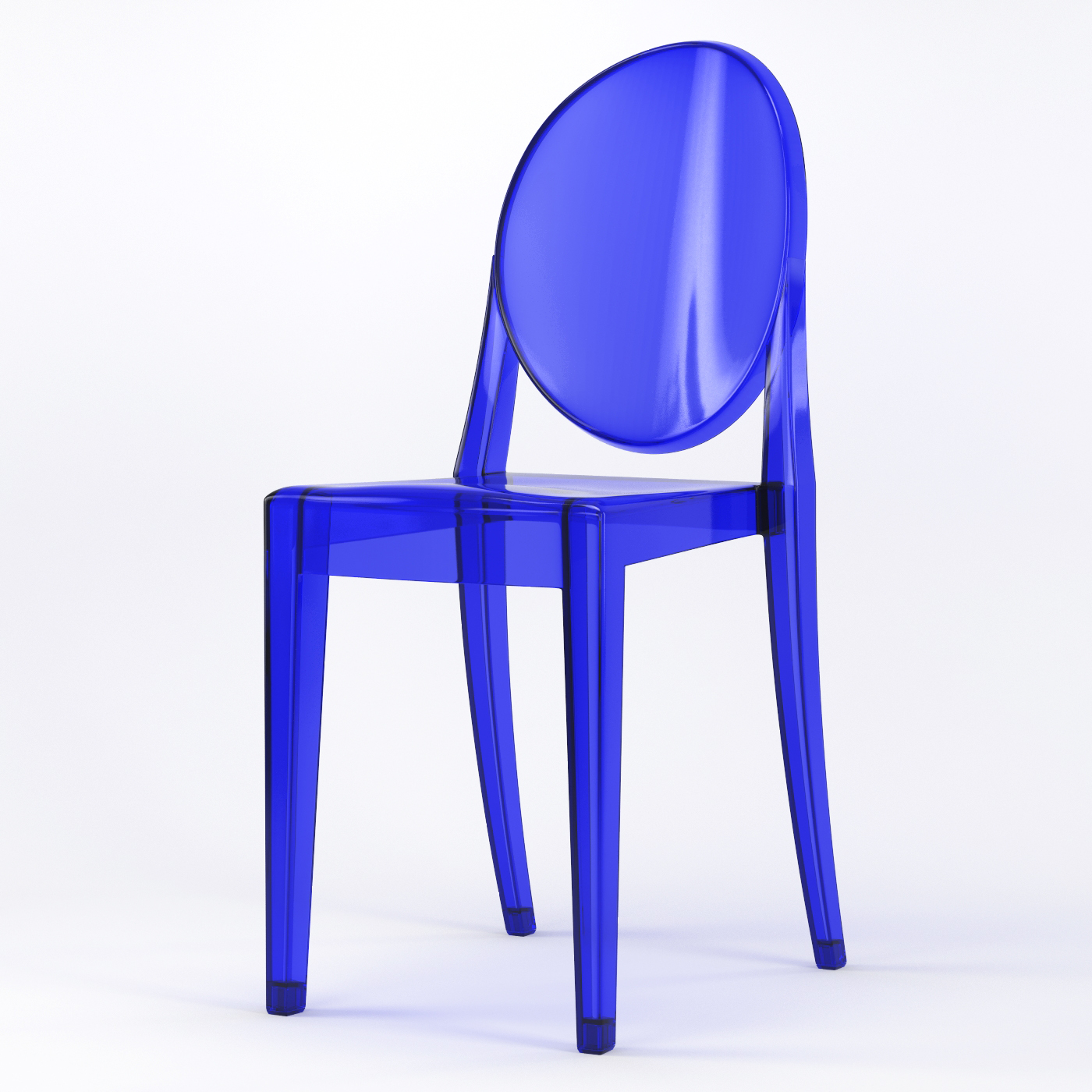 Acrylic Chair Phantom Occasional Acrylic Stackable Side Chair In Blue