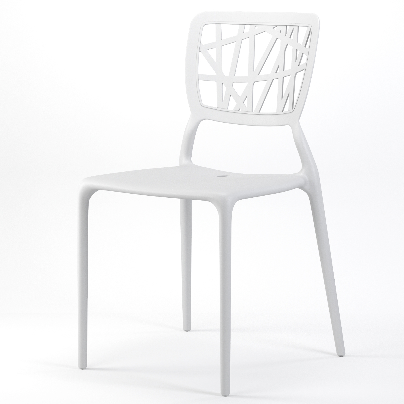 White Stackable Chairs Verdant Stackable Dining Side Chair In White
