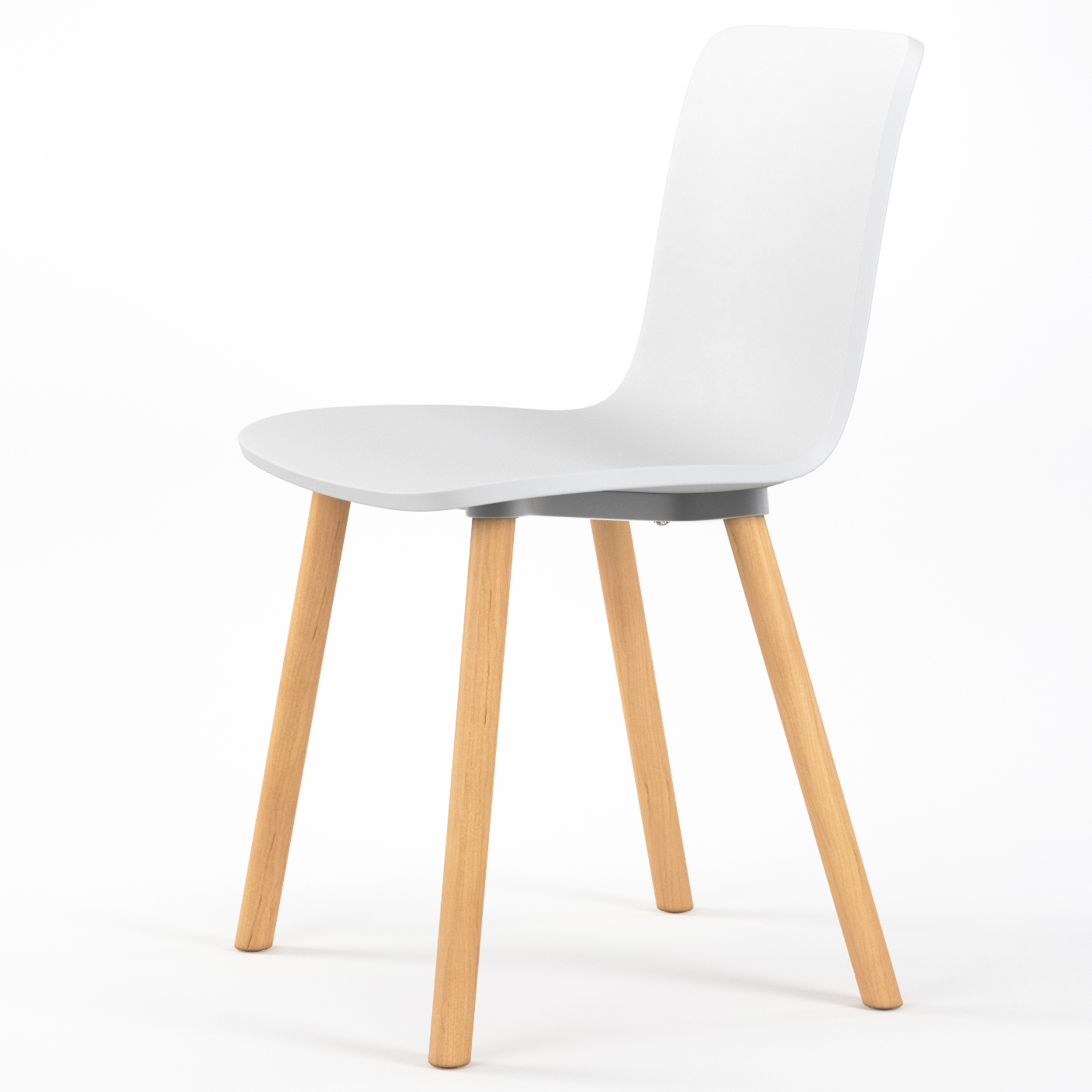 Plastic Dining Chairs Studio Plastic Modern Dining Chair In White