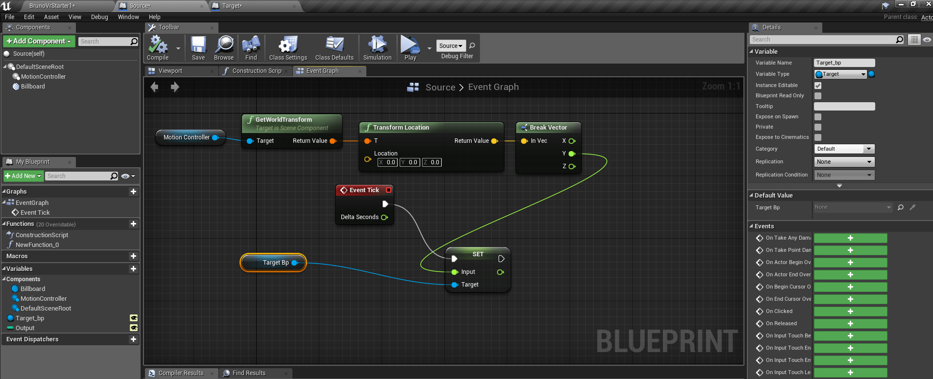 Send variable between 2 Blueprints in Unreal – ///SPACE///PLACE