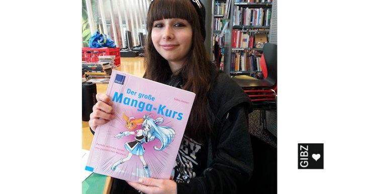 Porträt einer Hobby-Manga-Zeichnerin