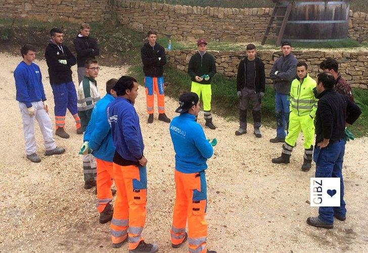 Projektwoche Trockenmauerbau – Einsatz der Maurer/innen für die Schweizer Umwelt : Tag 1 + 2