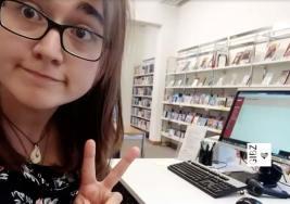 Parallelwelten – Jana Leu in der GIBZ-Mediathek und beim Jugendmagazin Tize