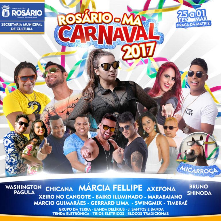 Programação Carnaval Rosário-Ma 2017