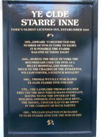 Ye Olde Starre Inn plaque (sml)