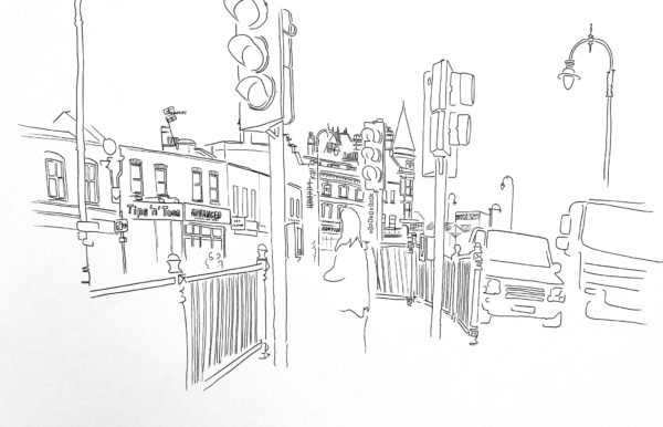 A2 drawing traffic lights in Kentich Town
