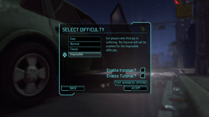 X-COM difficulty settings