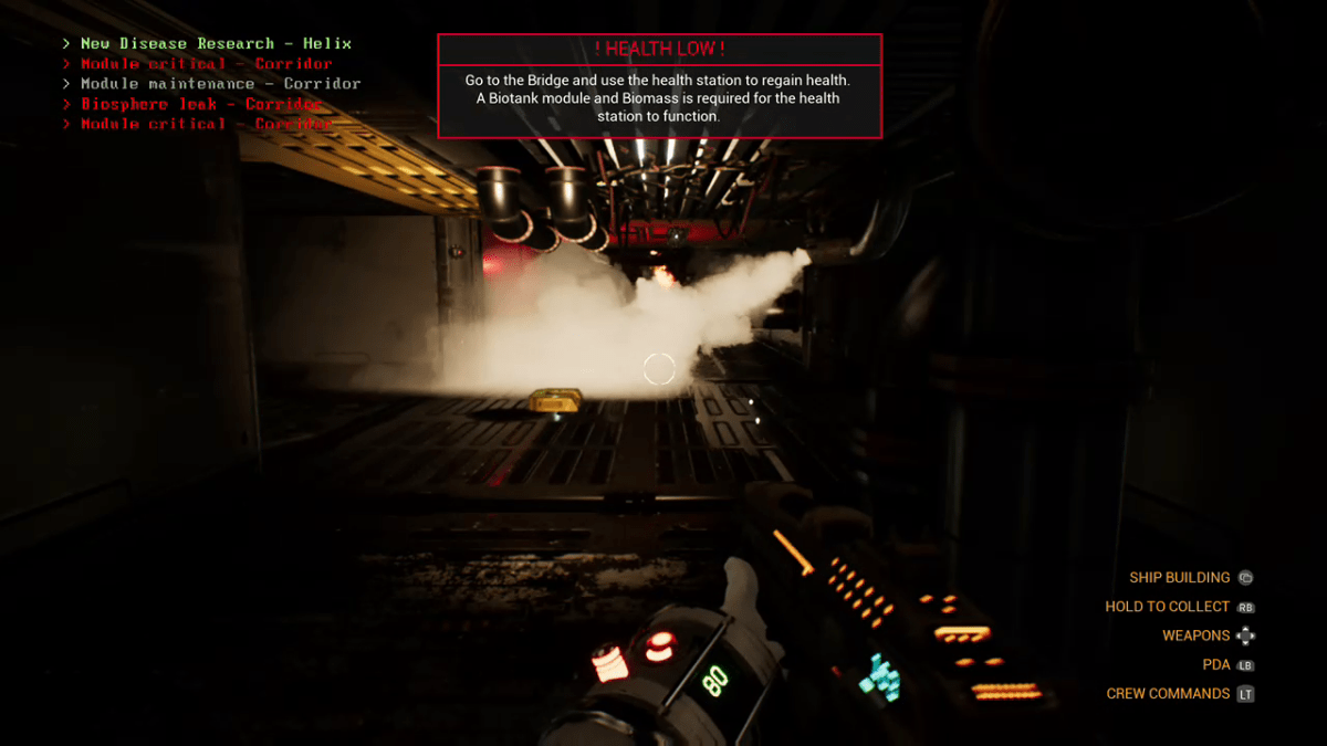 A part of the players ship suffers from an atmospheric leak.