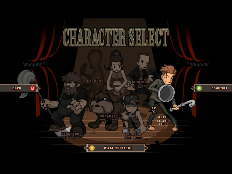 Streets of red characters